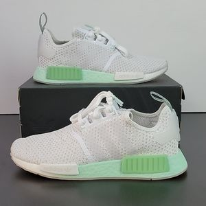 New Adidas NMD_R1 Boost White Green Men's Shoes